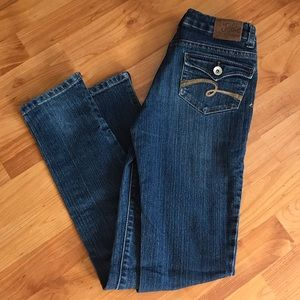Justice Button Back Pocket Jeans Size 14S